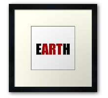 Earth Art Framed Print