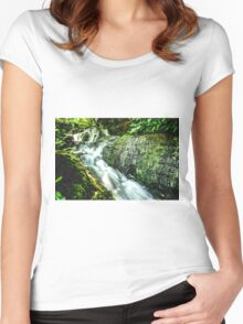 Artwork - Waterfall Women's Fitted Scoop T-Shirt