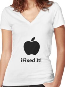 iFixed It Apple Women's Fitted V-Neck T-Shirt