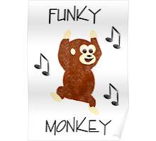 Funky Monkey Print Poster
