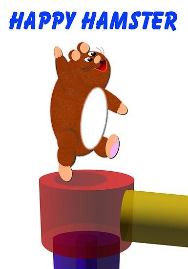 Happy Hamster Print by EddyG