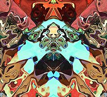 Faces In Abstract Shapes 2 by Phil Perkins