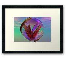 Love In A Glass Framed Print