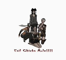 Evil Chicks Rule!!!!  Womens Fitted T-Shirt