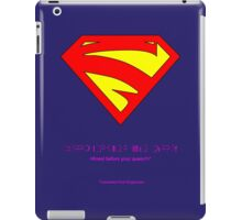 Kneel before Kara! iPad Case/Skin