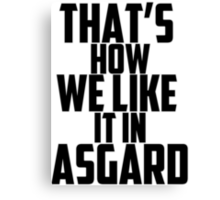 In Asgard Canvas Print