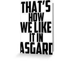 In Asgard Greeting Card