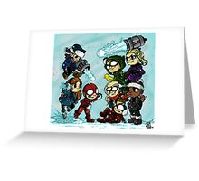 Flarrow Snowball Fight! Greeting Card