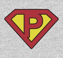 P letter in Superman style One Piece - Long Sleeve