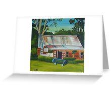 slab hut gallery Greeting Card