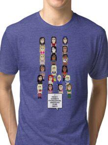 I Fancy Women's Professional Wrestling Over Men's Tri-blend T-Shirt