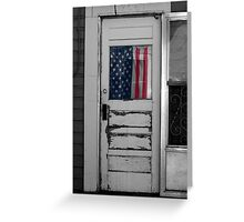 Back Alley Patriot  Greeting Card