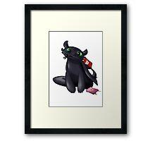 Pocky Toothless Framed Print