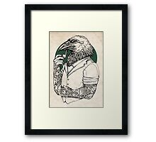 The Crow Man print Framed Print