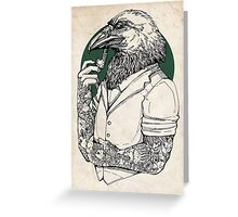 The Crow Man print Greeting Card