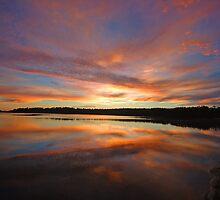 Dawn's Canvas - Narrabeen Lakes, Sydney Australia by Philip Johnson