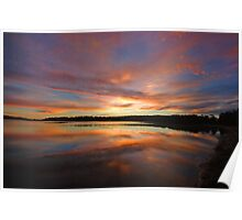 Dawn's Canvas - Narrabeen Lakes, Sydney Australia Poster