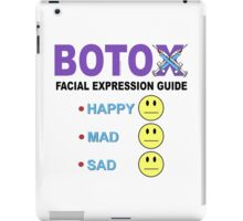 BOTOX - Facial Expression Guide (for light colors) iPad Case/Skin