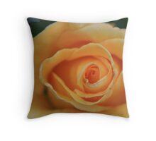 Apricot Swirl Throw Pillow