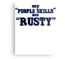 """People skills"" Metal Print"