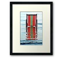 """DECKCHAIR CHILLING"" Framed Print"