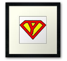 Y letter in Superman style Framed Print