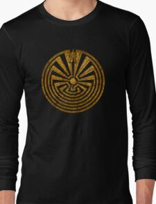 Man in the Maze, Journey through life, I'itoi, Papago Long Sleeve T-Shirt