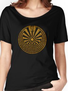Man in the Maze, Journey through life, I'itoi, Papago Women's Relaxed Fit T-Shirt
