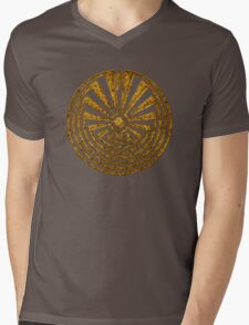 Man in the Maze, Journey through life, I'itoi, Papago Mens V-Neck T-Shirt