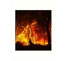 Bush Fire..... Art Print