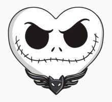 Jack Skellington Heart Art  Kids Tee