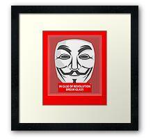 In case of revolution Framed Print