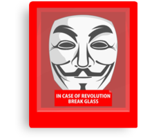 In case of revolution Canvas Print
