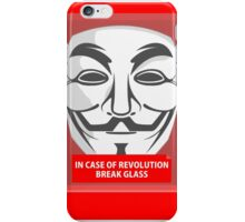 In case of revolution iPhone Case/Skin