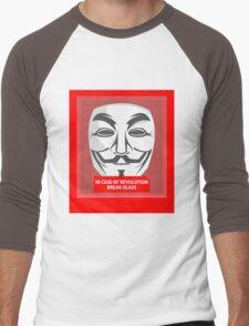 In case of revolution Men's Baseball ¾ T-Shirt