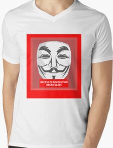 In case of revolution Mens V-Neck T-Shirt
