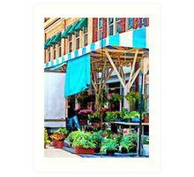Roanoke VA - Unloading Flower Truck Art Print