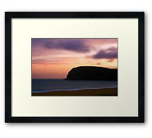 Dusk on the Beach Framed Print