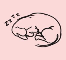 sleeping dachshund Kids Clothes
