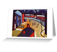 The canal by moonlight Greeting Card
