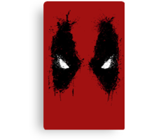 Deadpool eyes  Canvas Print