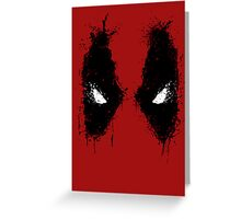 Deadpool eyes  Greeting Card
