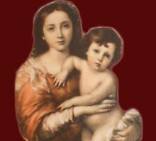 Madonna and Child, Religion, Biblical, Miracle, Religious Icon by TOM HILL - Designer