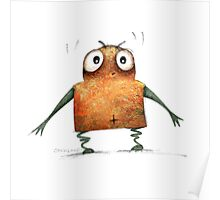Funny Undroid Robot Poster