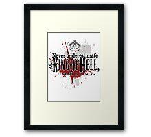King of Hell Framed Print