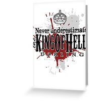 King of Hell Greeting Card