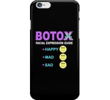 BOTOX - Facial Expression Guide (for dark colors) iPhone Case/Skin