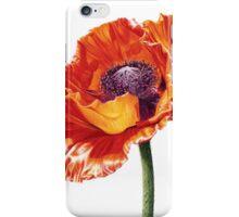 Oriental Poppy, Brilliant Red iPhone Case/Skin