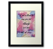 I fell in Love  Framed Print