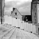 Staircase and palisade - Cathedral of Chartres by Pascale Baud